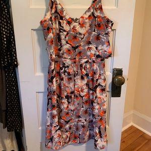 Parker floral flouncy dress